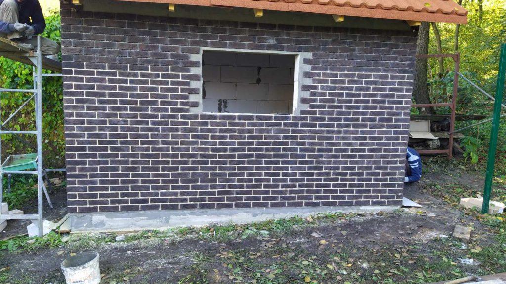 Облицовка фасадной плиткой - завершающий этап