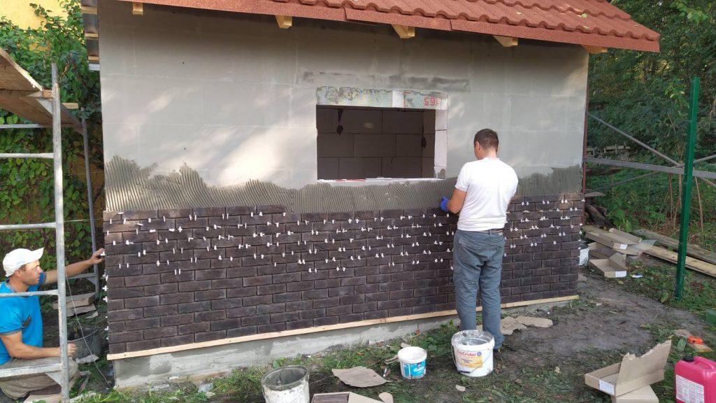 Облицовка фасадной плиткой - процесс облицовки